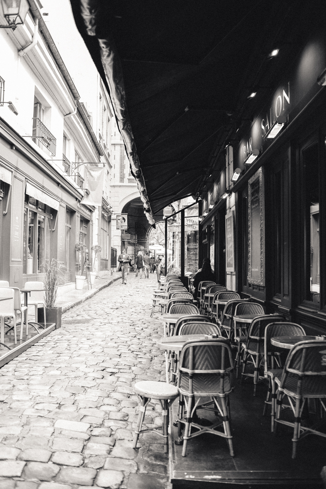 Café at Cour du Commerce, Saint André, Paris