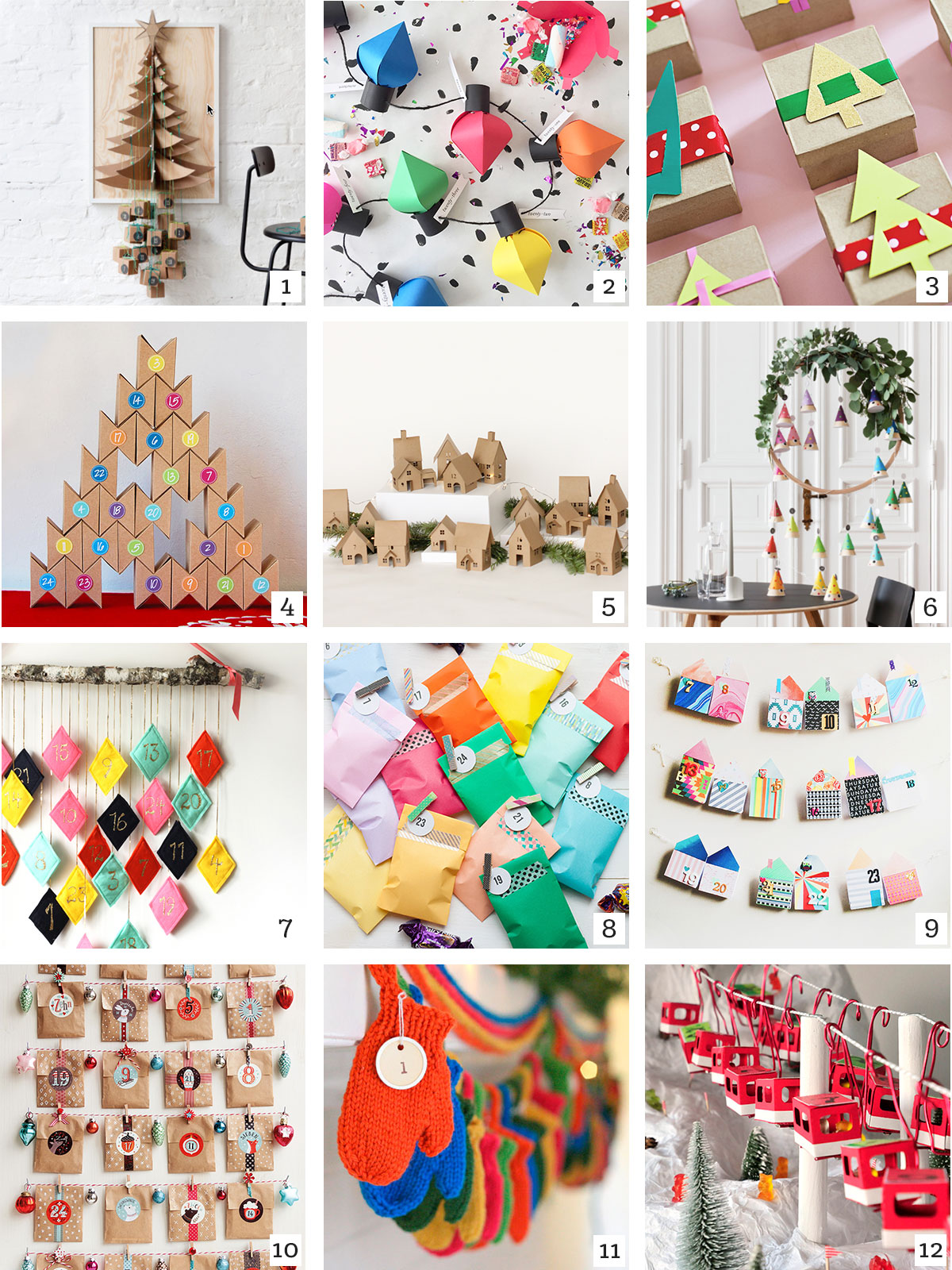 Colorful Advent Calendars DIY Roundup