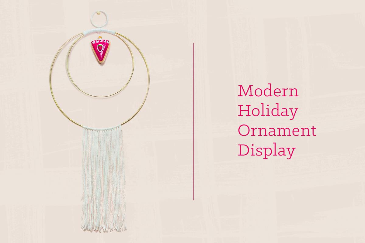Modern DIY Holiday Ornament DIsplay
