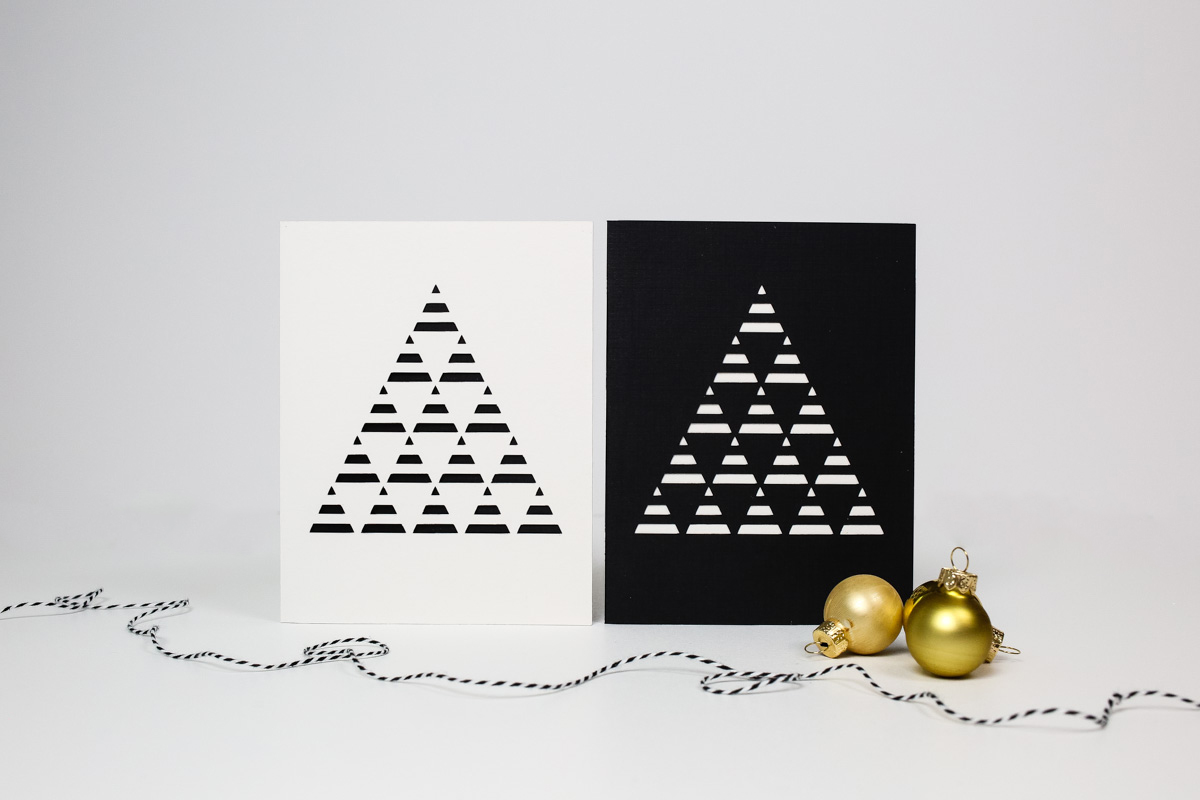 Diy modern christmas card tinselandtrim diy modern papercut christmas cards tinsel trim m4hsunfo