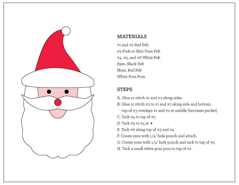 Santa Money Holder Template and Instructions - tinsel + trim