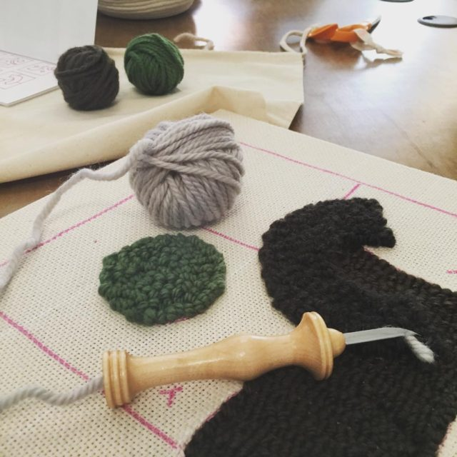 Learning how to create punch needle rugs with rosepearlman athellip