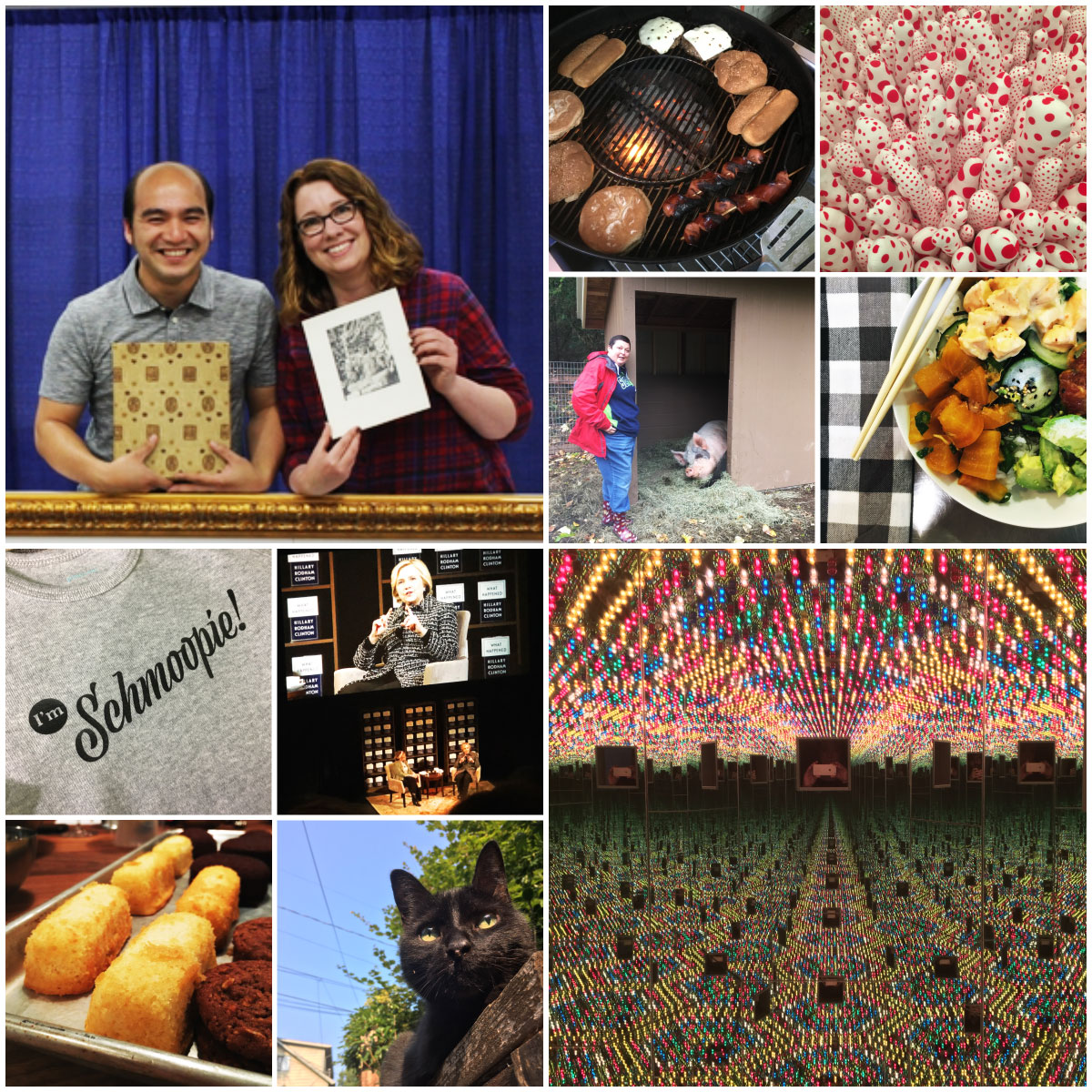 Photos from Antiques Roadshow, Kusama exhibit, cookies classes, and other outings