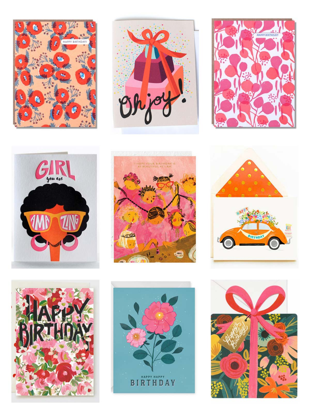 Greeting Card Roundup - Blushing Birthdays